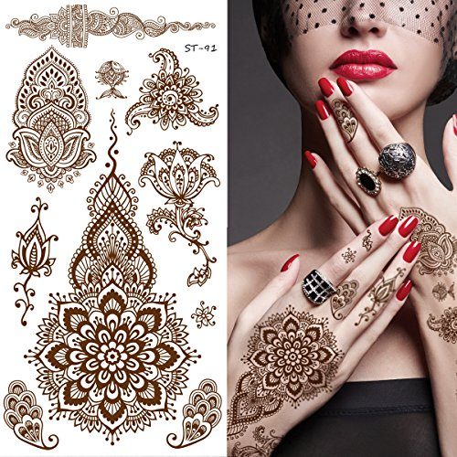 Supperb Temporary Tattoos - Inspired Mehndi Design Temporary Tattoos II