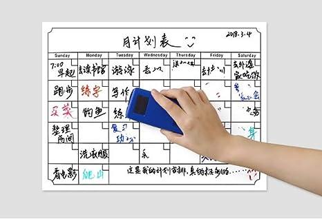 Calendario Scrivibile.Frigorifero Calendario Mensile Magnetico Lavagna Calendario