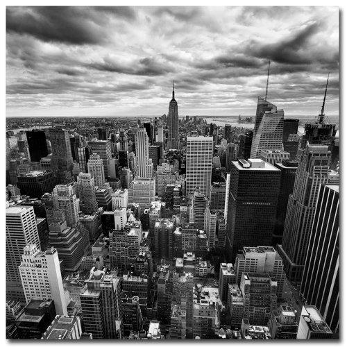 Rockefellar View by Nina Papiorek, 24x24-Inch Canvas Wall (Rockefeller Building New York)