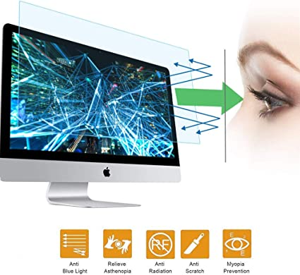 VIUAUAX 25 Eyes Protection Anti Blue Light Anti Glare Screen Protector fit 25 Inches Widescreen Desktop Monitor Screen Reduces Digital Eye Strain Help You Sleep Better 554x312mm