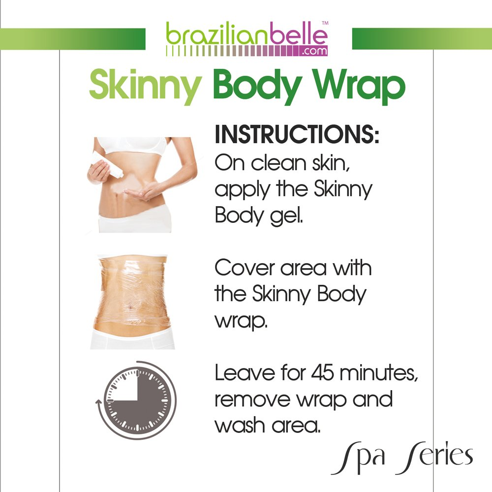Amazon brazilian skinny body wrap kit lose belly fat fast amazon brazilian skinny body wrap kit lose belly fat fast reduce cellulite eczema stretchmarks no mess formula for stomach arms thighs ccuart Gallery