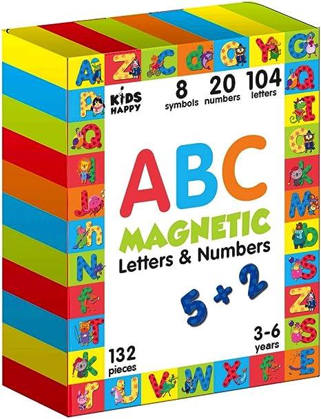 Juegos niños 3 años «Letras y Numeros Magneticos 132 piezas ...