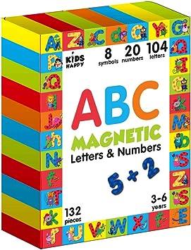 San Francisco marque célèbre prix le moins cher Jeux apprentissage 3 ans Lettres et Chiffres Magnétiques 132 pcs- Alphabet  Magnetique Lettres magnetiques Aimant pour enfant Frigo Apprendre à lire ...