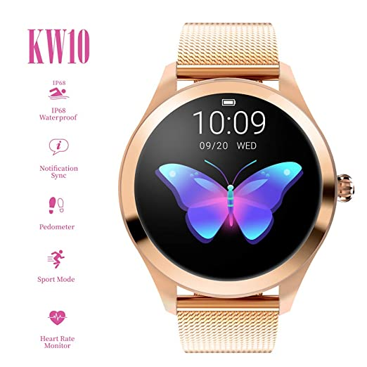 Smart Watch KW10,pantalla táctil redonda IP68 Smartwatch a prueba ...
