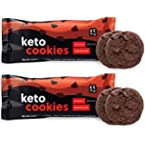 Perfect Keto Cookies - Low Net Carb Snacks & Sweets, No Added Sugar and Gluten-Free Cookies – Keto Food for Healthy and Keto-Friendly Diet - 12 Pack (24 Count), Double Chocolate