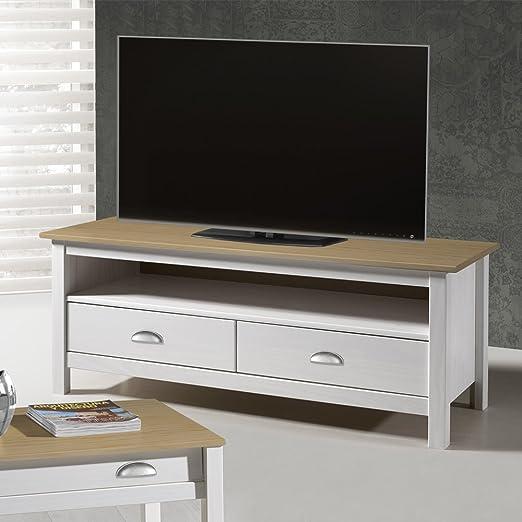 Venta-stock Mobile TV Bora Bora 2 Cassetti realizzato in pino massiccio colore Antracite