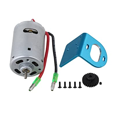 BQLZR Blue Mount Plate Iron 540 Brushed High Speed Electric Engine Motor A580048 with Line 27T Gear for WL RC1:18 Car: Toys & Games