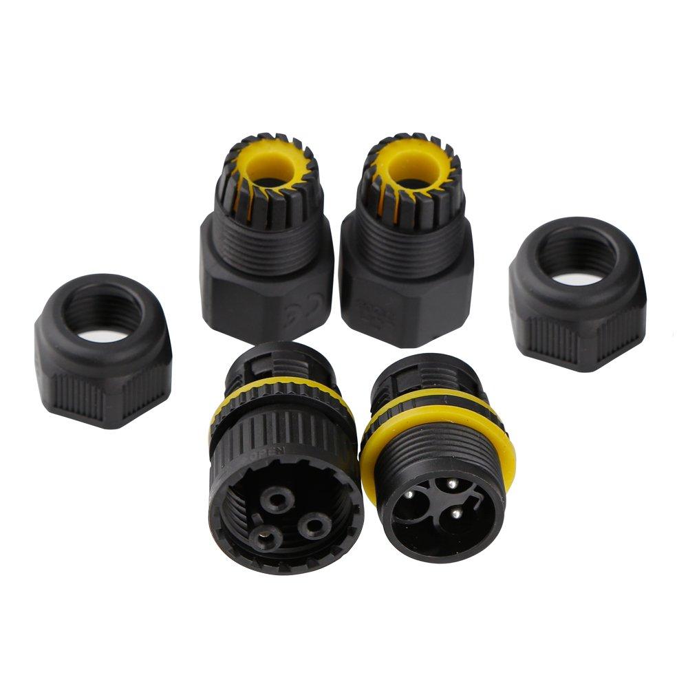 Caja de conexiones r/ápida IP68 Resistente al agua Conectores de cable de 3 v/ías Caja de conexiones el/éctrica exterior//exterior /Ø 6mm-11mm