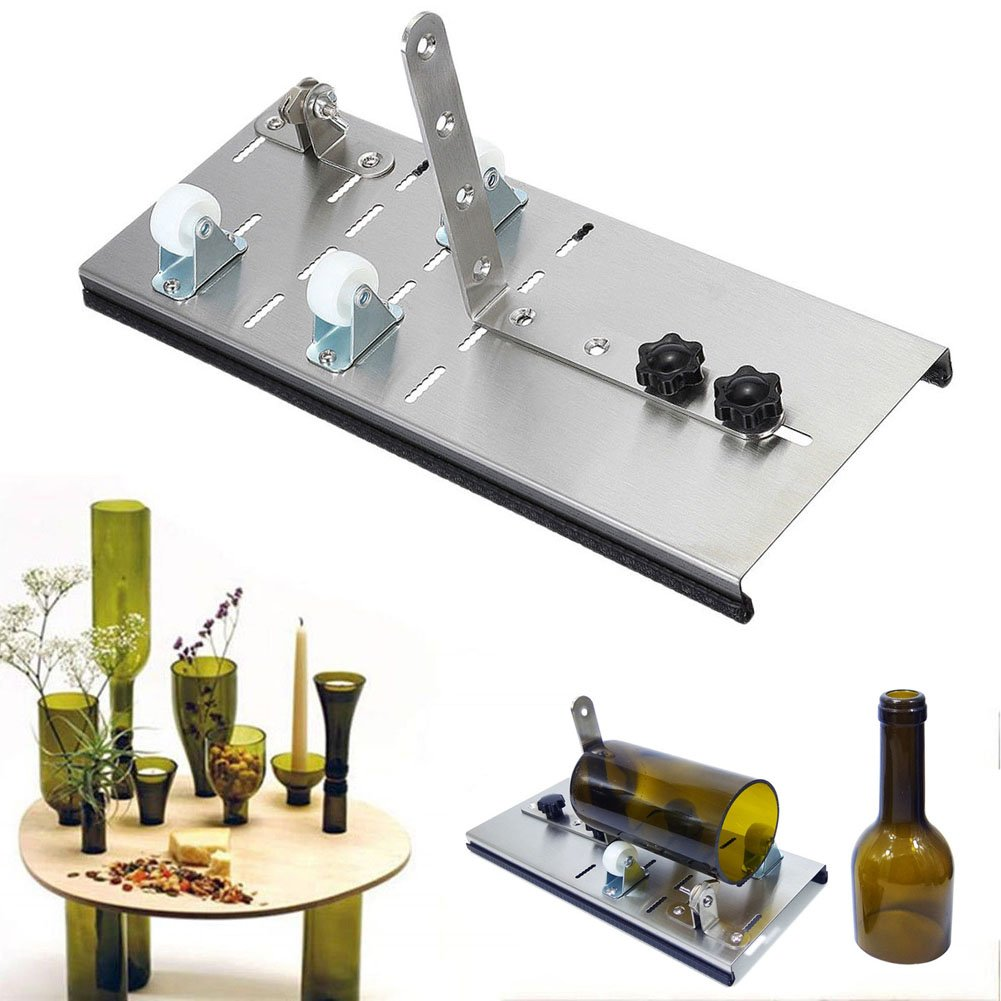 Coupe de verre en acier inoxydable Réglable Bouteille de Vin Coupe Machine Pot DIY Craft Recycle Outil