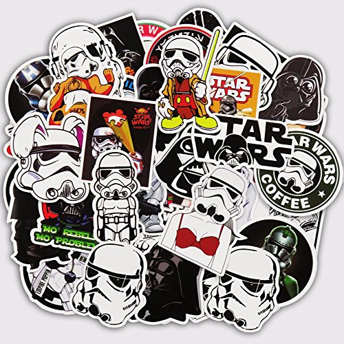 Darth Vader Sticker - 50 Waterproof Stickers Set for decorating