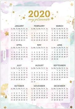 Calendarios de Pared Calendarios de Escritorio 2020 Tarjeta del ...