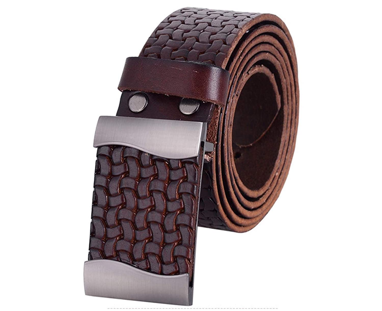 Nidicus Mens Retro Dreadlocks Single Prong Rugged Cowboy Jeans Leather Belt