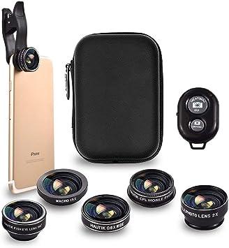 Kit de lentes para cámara de teléfono. 5en1: con lente gran ...