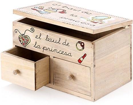 Home Line Caja de Madera Infantil Princesa (24x16x16 cm): Amazon.es: Hogar