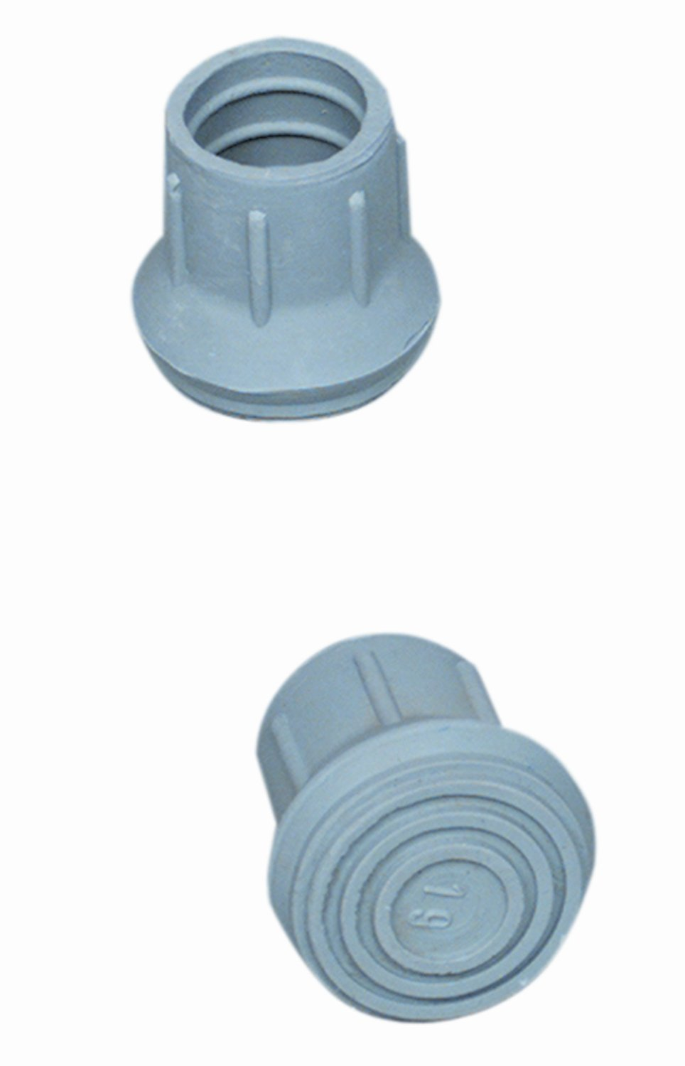DMI Rubber Walker and Cane Replacement Tips for Stability, 7/8 Inch, Gray, 4 Count