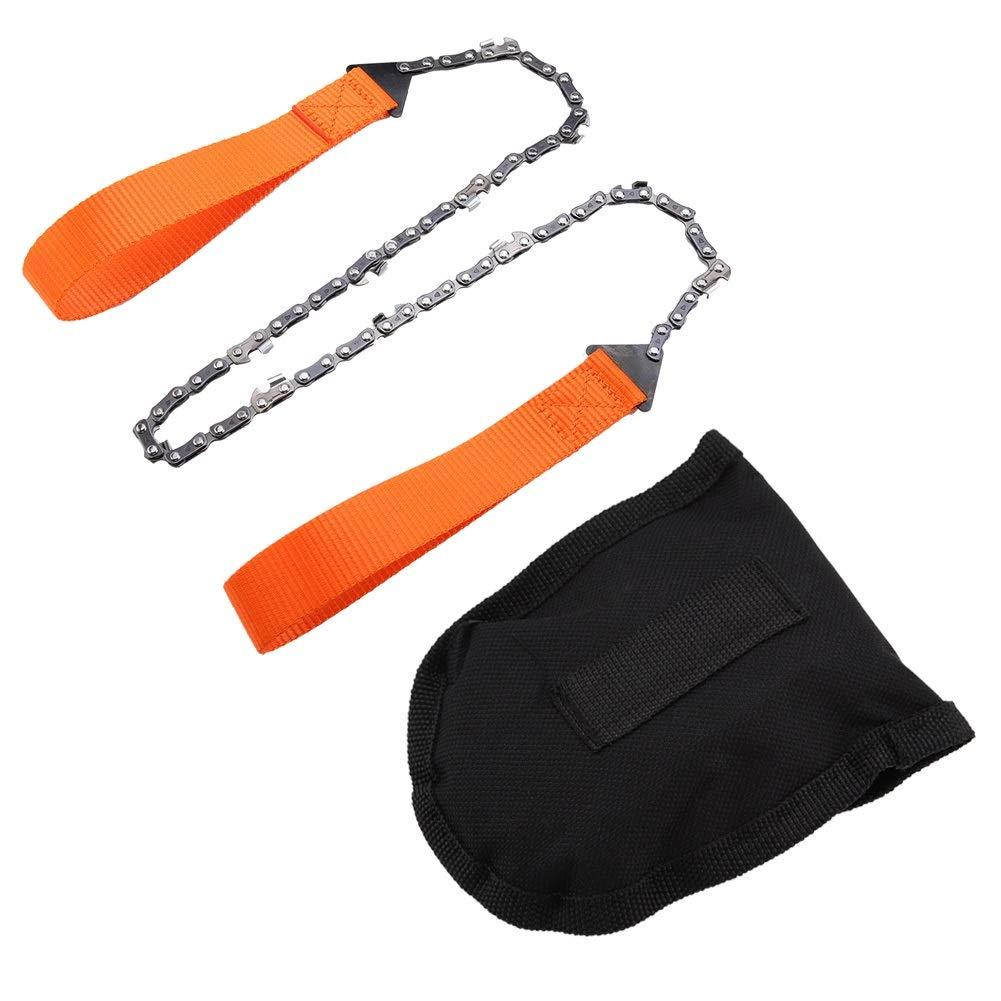 motosierra de mano port/átil de supervivencia de emergencia con bolsa negra Motosierra de supervivencia