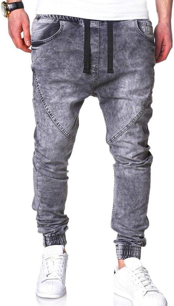 STRIR-Ropa Pantalones Vaqueros Rotos Biker Jeans de Hombre Slim ...