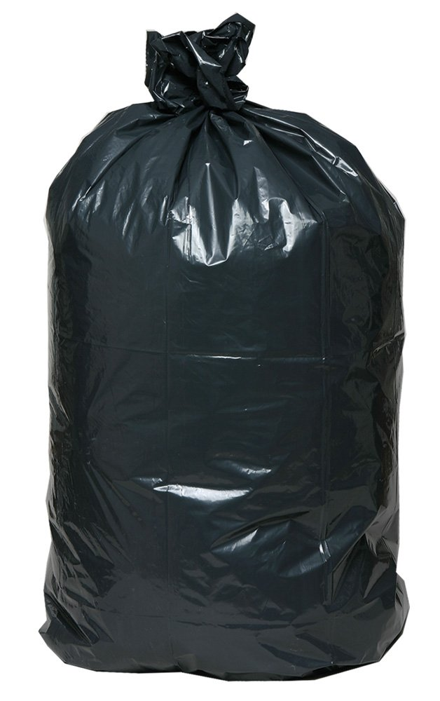 AEP 0232359 X Heavy Duty Can Liner, 45 Gallon, 1.25 ml, Black (Pack of 100) by AEP