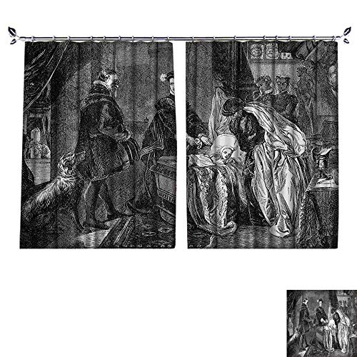 DESPKON Decoration Polyester Material Queen of Scots Leaving Stirling Castle AnSketch Crown Royalty for Children's Room W72 x L84 ()