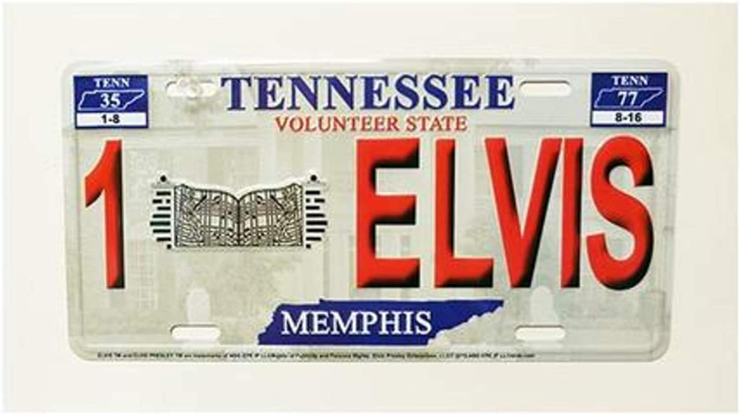 1Elvis Midsouth Products Elvis License Plate