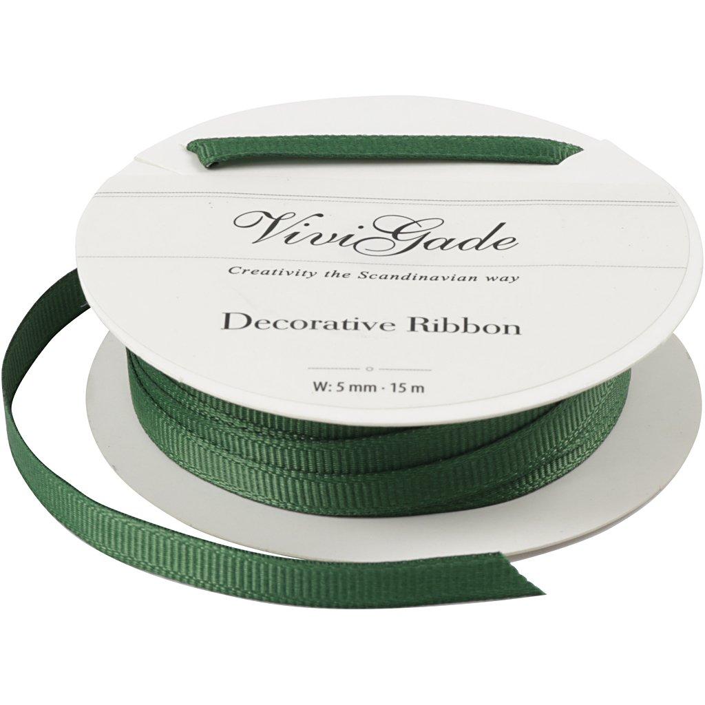 Nastro decorativo, l: 5 mm, verde, 15m Vivi Gade Design