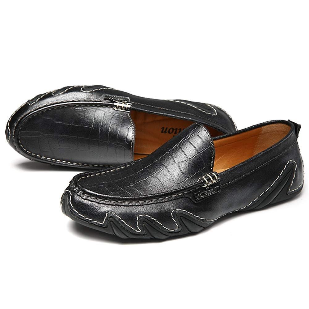 Jiuyue-scarpe Uomo Driving Loafer, Casual Mocassino Mocassino Mocassino in Morbida Pelle Traspirante. Mocassini da Barca scivolanti (Colore   Nero, Dimensione   40 EU) eb5289
