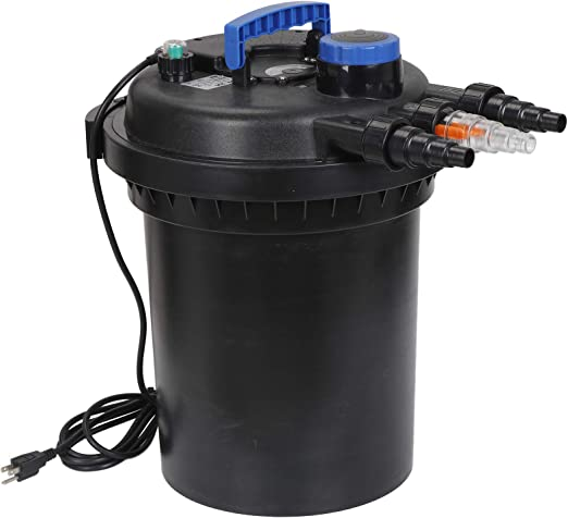 ZENY Presión Bio Filtro para la función Estanque 13W UV Esterilizador del purificador de Agua Ligera 10000L Koi 4000 galones Fácil de retrolavado: Amazon.es: Hogar