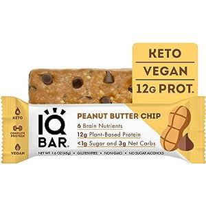 IQBAR Brain + Body Protein Bars, Peanut Butter Chip