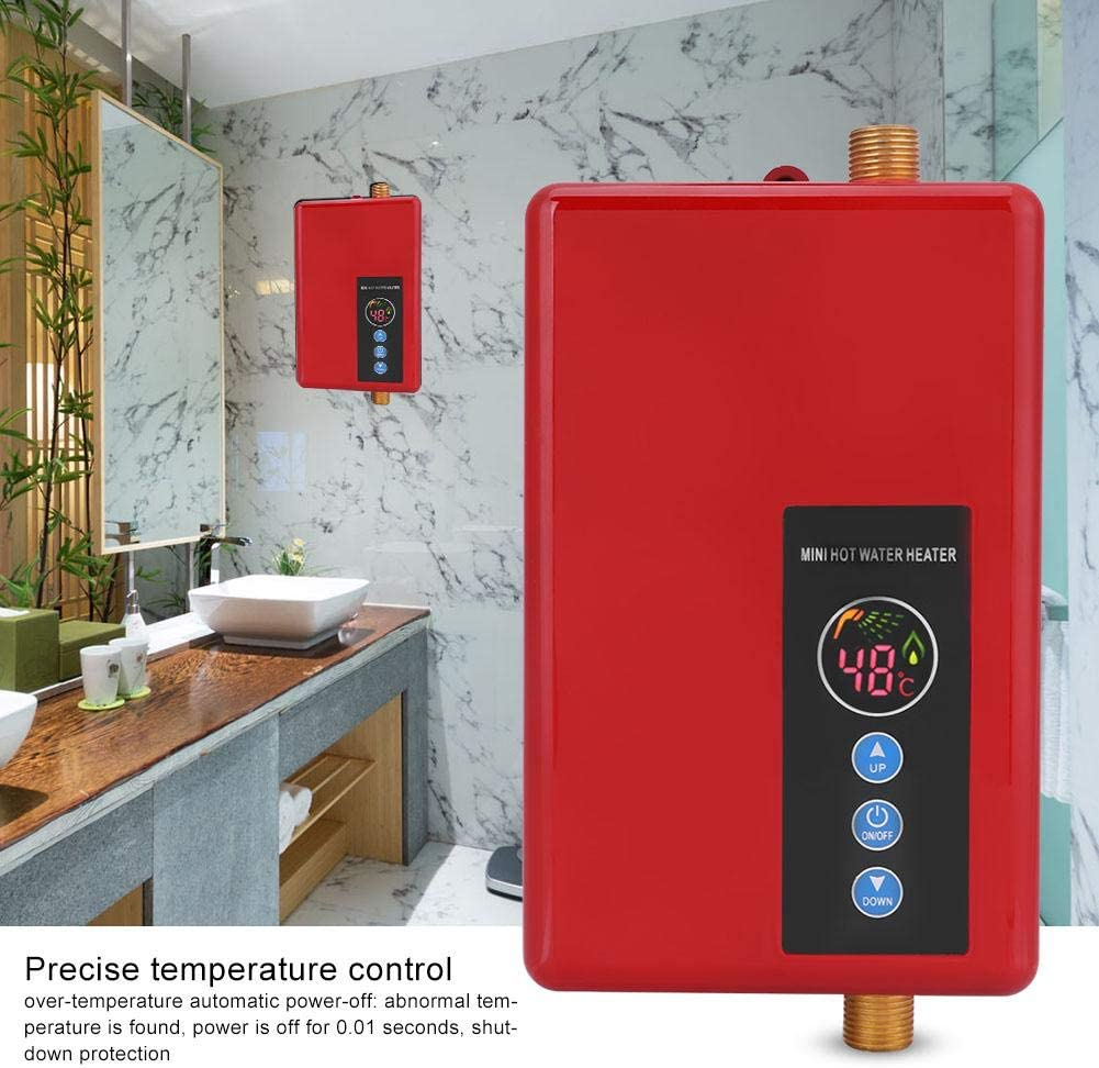 Raguso PRACTICAL AND CONVENIENT TO INSTALL Hot Water System for Bathroom for Kitchen(black) Red