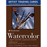Strathmore Watercolor Cold Press Artist Trading Cards, 2.5 x 3.5 Inches, 10-Pack (105904)