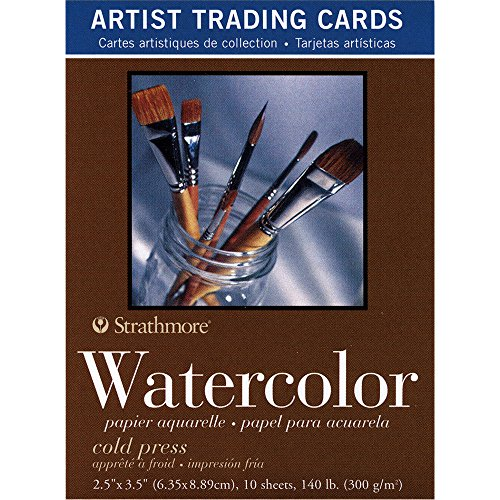 Strathmore 105-904 400 Series Watercolor Artist Trading Cards, Cold Press Surface, 10 Sheets