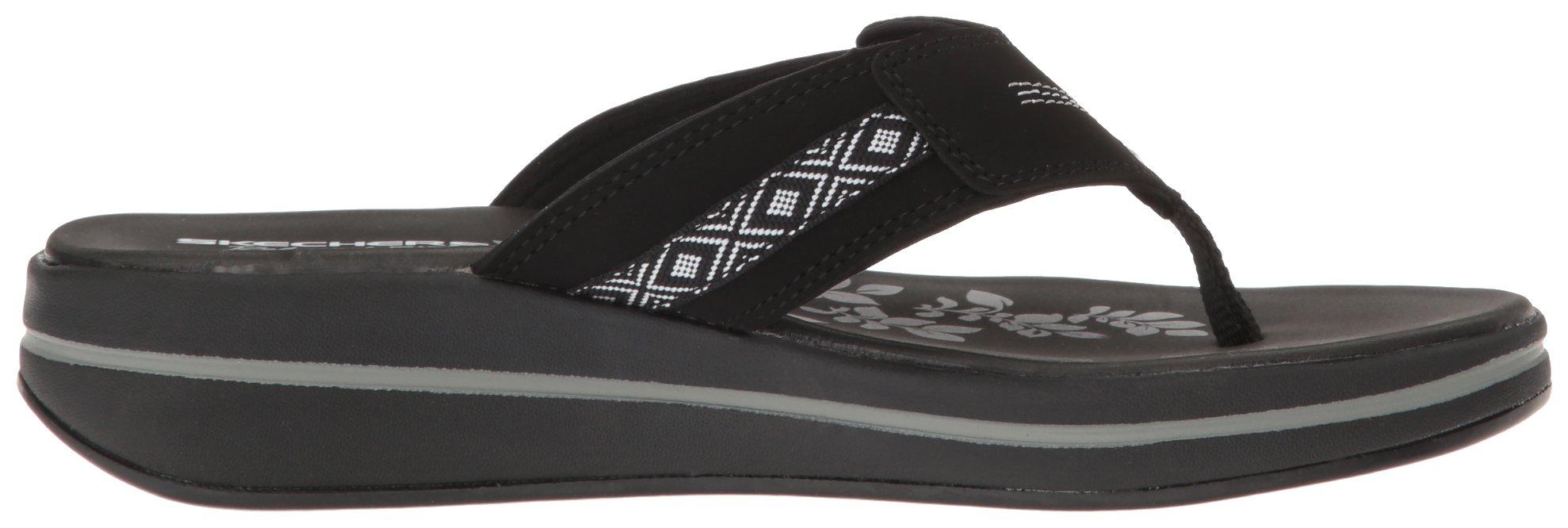Skechers Modern Comfort Sandals Women's Upgrades Marina Bay Flip Flop Black/White, 8 M US by Skechers (Image #7)