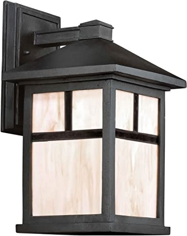 separation shoes 15c87 d4285 Forte Lighting 1873-01 Craftsman / Mission 1 Light Outdoor Wall Sconce from  the, Black