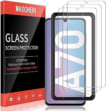 MASCHERI Protector de Pantalla para Samsung Galaxy A70 Cristal ...