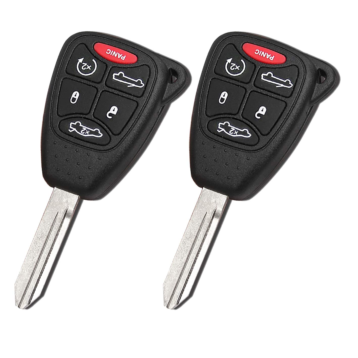 for Chrysler Sebring Convertible 200 Convertible 4 Buttons 315MHZ Remote Key fob with ID46//7941A Chip from WAKFLMS Pack of 2 FCC OHT692427AA