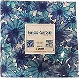 Kanvas Studio Color Calypso Blue 10X10 Pack 42 10-inch Squares Layer Cake Benartex