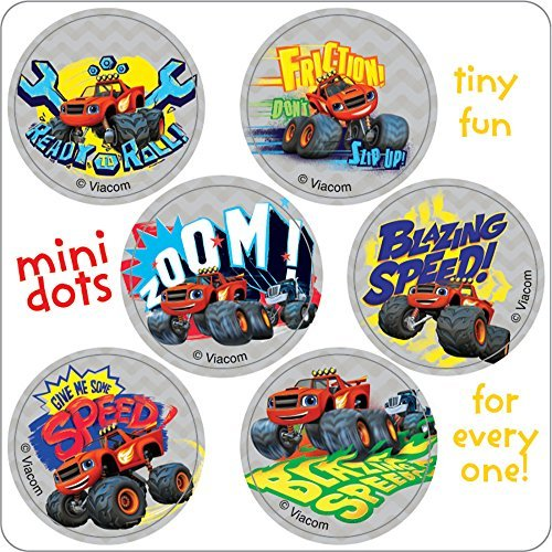 Blaze and the Monster Machine Mini Dots Stickers - Birthday Party Supplies & Favors - 600 per Pack by SmileMakers