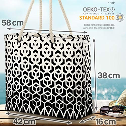 VOID halvton mönster strandväska Shopper 58 x 38 x 16 cm 23 L XXL shoppingväska väska resväska Beach Bag
