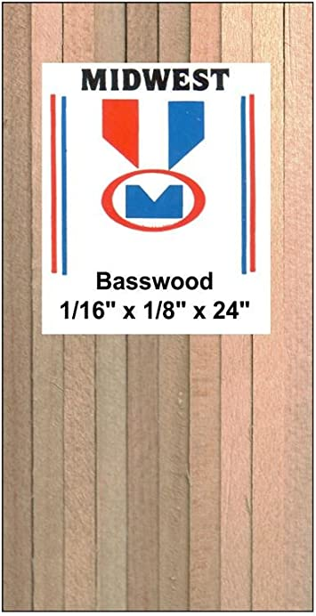 Amazon Com Midwest Basswood Sticks 1 16 In X 1 8 In X 24 In