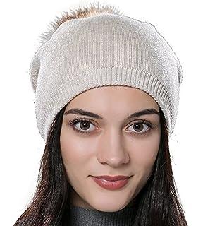 e5b62d5ed3d DUVERT Bonnet Femme Hiver Tuques d hiver Bonnet Chapeau Femme Unisexe Laine  tricoté