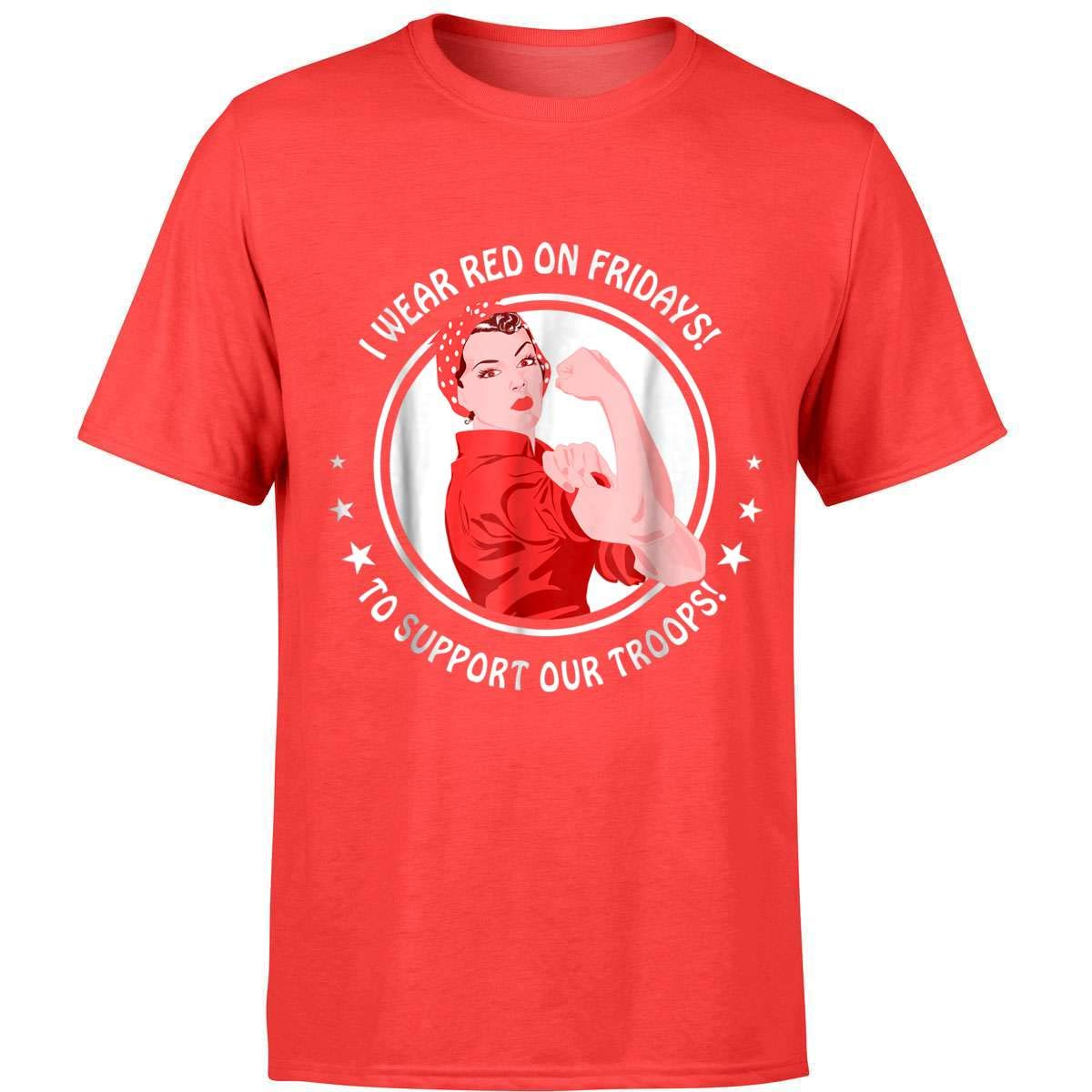 I Wear Red On Fridays T Shirt For Military Mom Wife