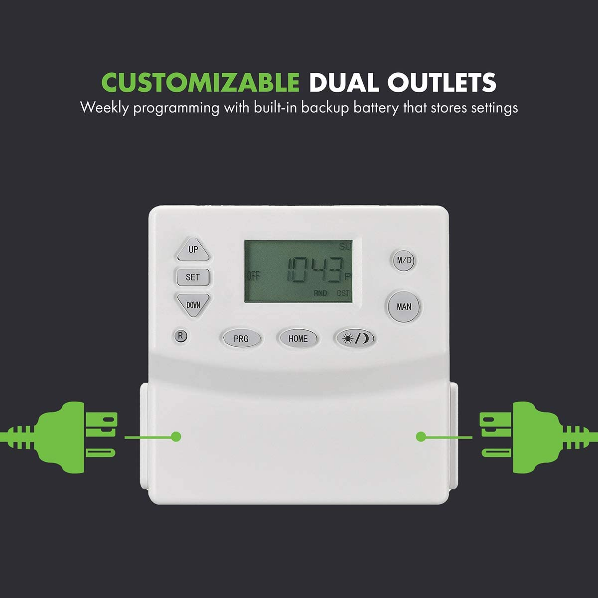 Random and Daylight Savings TGT09 Dual Electrical White 4 Pack ...