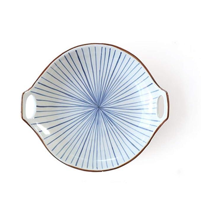 Línea De Vajilla Japonesa Tazón De Porcelana Azul Y Blanca Comida ...