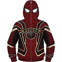 Silver Basic Chaqueta con Cremallera Estampada 3D Spiderman con Estampado de Spiderman para Niños en 3D