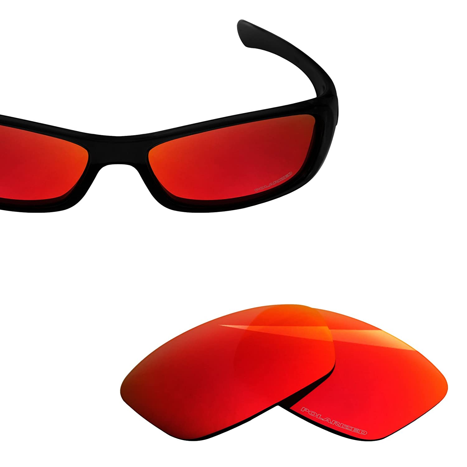 424a5972f2 BlazerBuck Anti-salt Polarized Replacement Lenses for Oakley Hijinx - Fire  Red  Amazon.co.uk  Clothing