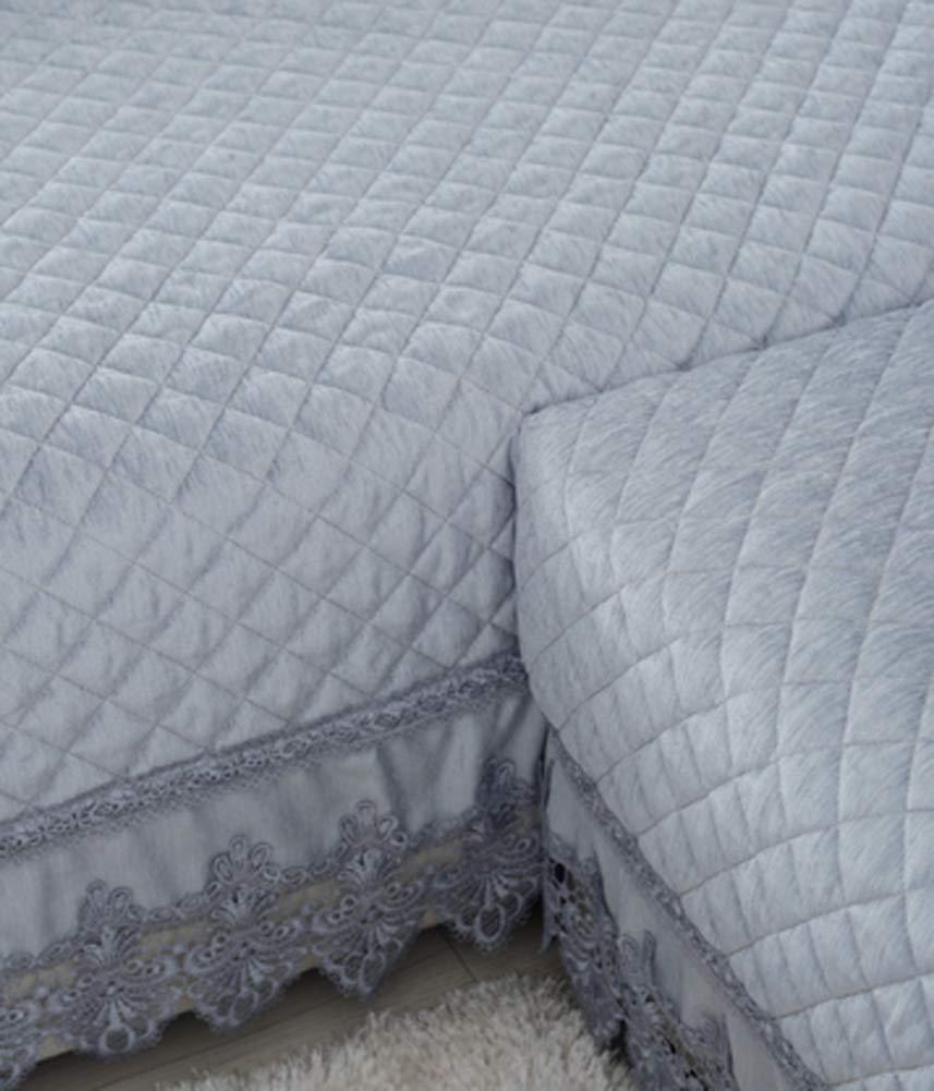 Zzy Fundas de Peluche Acolchado Protector de los Muebles para Toda Temporada Antideslizante seccional sofá Tiro Funda cojín sofá l Forma sofá Cubierta con ...
