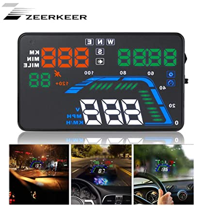 Zeerkeer Car HUD GPS Head Up Display KMH mph Sistema de Alerta ...