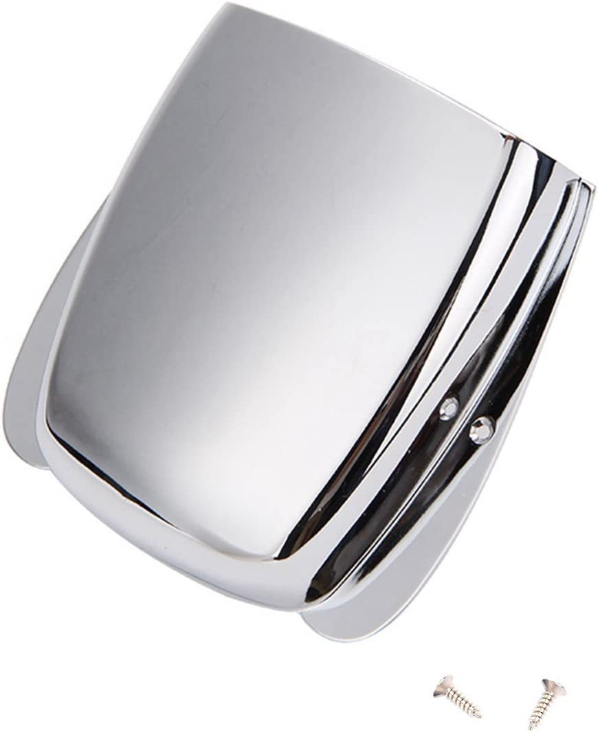 Chrome precision bridge cover plate vintage bass guitar style new with screws