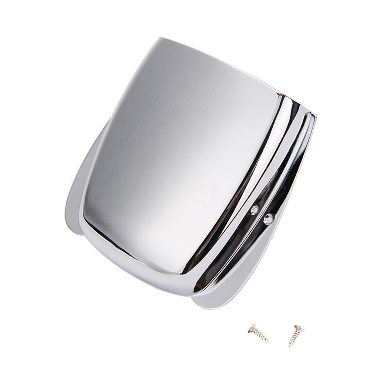 Timiy Silver Bass Electric Guitar Parts Stainless Steel Guitar Bridge Plate Cover with Screws