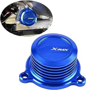 Tapa de filtro de aceite CNC para motocicleta Yamaha X-MAX XMAX ...